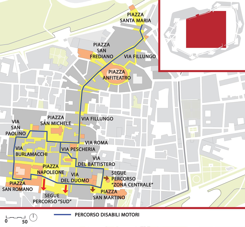 Mappa del percorso denominato a ruota libera
