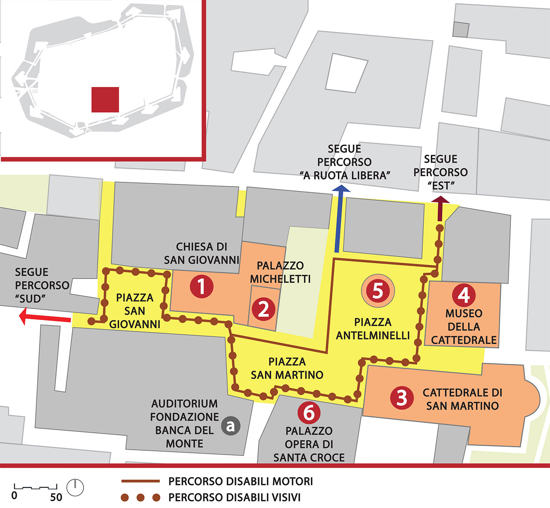 Mappa del percorso centrale in dettaglio